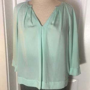 DKNYC Mint V-Neck Blouse